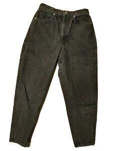 asos Jeans schwarz-grau TO Fit Waist Gr. 26 ( =164) High Waist Karotte