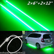 "4Pcs Car Undercar Underbody CCFL Cold Cathode Tube Neon Kit Lights 6""+12"" Green"