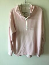 O'Neill Striped Hoodie Cotton Pink White Women's Size Large