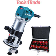 Makita RT0700CX4 1/4inch Router / Trimmer 110V with 12 Piece Cutter Set