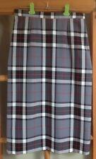Midi Pencil Skirt Thomson Grey Tartan Size 10 Made In Scotland Machine Washable