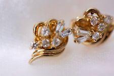 9ct Diamond Leaf Style Earrings Studs - 1905012