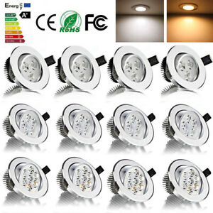 LED Einbau Strahler 5W 7W 12W Einbauleuchten Decken Leuchte Set Einbau Spot 230V
