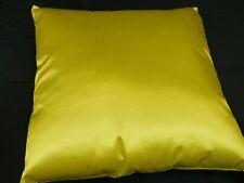 Beautiful Satin Look Cushion Stunning bright colour Designer Range 40 cm YELLOW