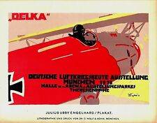 Original vintage poster print GERMAN WWl AVIATION 1918 Engelhard