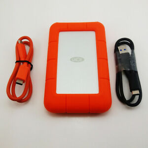 Used LaCie Rugged USB-C 2TB Portable Hard Drive STFR2000800 Free Shipping