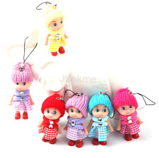 5Pcs Cute Kid Toys Soft Interactive Baby Dolls Toy Small Gift Unisex Fashion