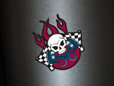 1 x adhesivo Skull motor Flame tuning Ka-Boom sticker Fun gag auto decal