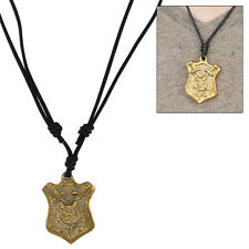 Lions Head Shield Crest  Pendant Medieval Renaissance Style Necklace