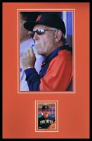 Jim Leyland Signed Framed 11x17 Smoking Photo Display Tigers Pirates