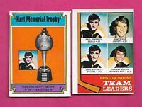 1974-75 OPC BRUINS PHIL ESPOSITO + BOBBY ORR EX-MT +   CARD (INV# C3643)