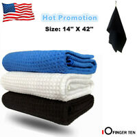 "Golf Players Towel Unique Microfiber Sports Towel Waffle Hook To Bag 14""*42"""