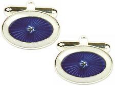 Blue & white A STELLA Gemelli Ovali in scatola di presentazione con 2 ANNI DI GARANZIA