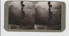 WWI Stereoview (Realistic) - Trail of smoke from the enemy observation balloon