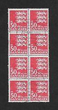 Denmark 1982 50kr Very Fine used Block of 8