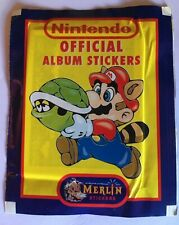 Booster Stickers NINTENDO Official Album Stickers Neuf 1992 Merlin