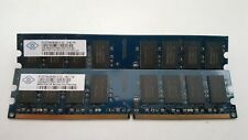 Nanya 4GB(2X2GB) PC2-5300 DDR2-667MHz non-ECC Unbuffered CL5 240-Pin DIMM D-RK