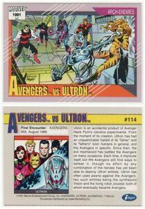 AVENGERS vs ULTRON # 114 - ARCH ENEMIES SERIES - 1991 MARVEL COMICS BY IMPEL