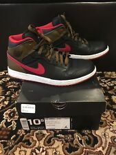 Air Jordan 1 Retro Phat - SIZE 10.5 Red Olive Green White Pre Owned 364770-040