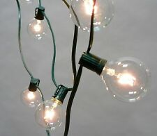5' Outdoor Patio Green Wire G50 Globe Lights, Wedding, Patio, Christmas Set