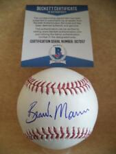 BRANDON MORROW CHICAGO CUBS SIGNED AUTOGRAPH M.L. BASEBALL BECKETT D27207