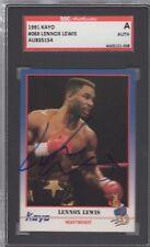 LENNOX LEWIS Signed 1991 Kayo Boxing Card HoF SGC SLAB