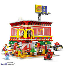 1729pcs McDonald's Store With Led Lighting Building Blocks Diy Action Figure Toy