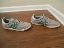 Used Worn Size 10 Adidas Samba Shoes Gray Green White Gold