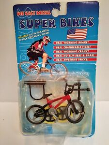 """Die-Cast  Super Bike Bicycle Toy 3"""" With spare tires and Tools in Blister Pack"""