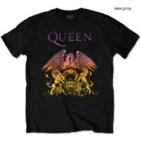 Official T Shirt QUEEN Bohemian Rhapsody Black GRADIENT Crest All Sizes