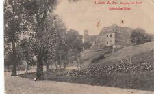 2329, AK Gollub, Westpreußen, Eingang zur Stadt, Schloßruine Golau, 1915
