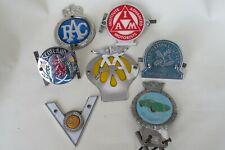More details for seven vintage motor club badges, goodwood etc