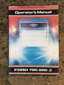 FORD 7910 / 8210 TRACTOR MANUAL BROCHURE FORCE 2 OPERATORS HANDBOOK SUPER Q CAB
