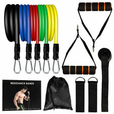 11 PCS Resistance Band Yoga Pilates Abs Exercise Fitness Tube Physical training