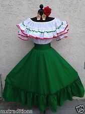 MEXICAN DRESS FIESTA, 2 PIECE W/SMALL SASH CUSTOMIZE MADE TO ORDER ITEM ONLY