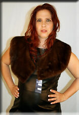 New Brown Mink Fur Collar Efurs4less