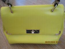 Women Fashion Bag - Yellow Leather Handbag/Tote/ Retro Messenger Bag