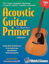 Acoustic Guitar Primer for Beginners (Book & CD-ROM) by Bert Casey