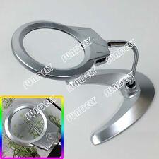 HI-Q LED LAMP STAND DESKTOP MAGNIFYING GLASS Heavy Duty Flexible Magnifier Desk