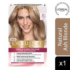 L'Oreal Paris Excellence Creme Permanent Hair Dye, 8.1 Natural Ash Blonde