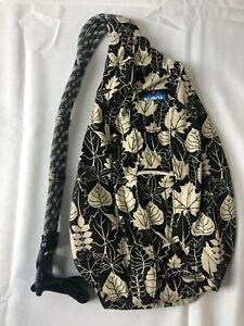 Kavu Rope Sling Bag BW Leaf