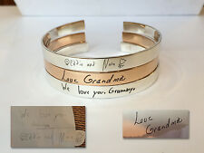 Handwriting Cuff Bracelet - Custom/ Personalized Bracelet for women- Love gift