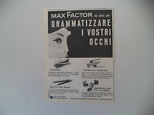 advertising Pubblicità 1959 MAX FACTOR