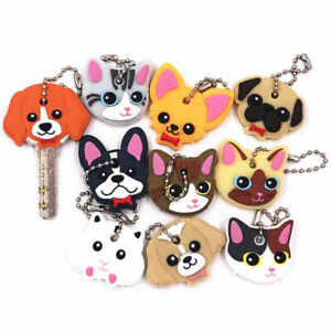 Key Cover Dog Cat Silicone Keychain Children Gift Various Types Pug Chihuahua