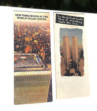 More details for twin towers world trade centre original 1980s & 1990s pre 911 visitors leaflets