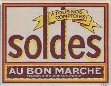 France Cinderella: 1926 Au Bon Marche, Paris - Soldes a tous comptoirs (dw508a)
