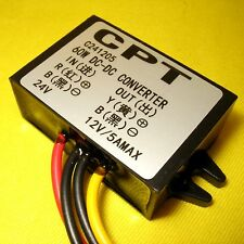 24V to 12V DC to DC Converter 5A 60W Step Down Buck Module Adapter Truck Bus Car
