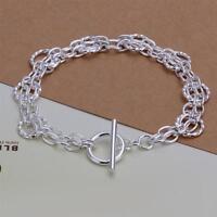 ASAMO Damen Armband 925 Sterling Silber plattiert Schmuck Gliederkette A1298