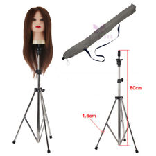 80-133cm Adjustable Training Mannequin Head Tripod Stand Manikin Wig Holder