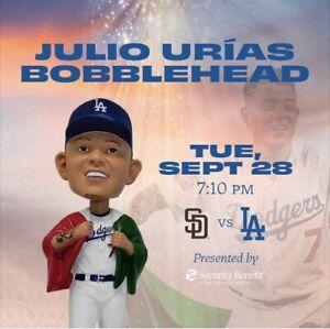 LA Dodgers 2021 Julio Urias World Series Mexican Flag Bobblehead, 09/28, presale